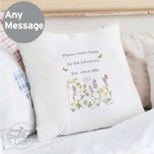 Personalised Country Diary Wild Flowers Cushion Cover P0510F28